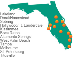 JSA Roadshow FL Map